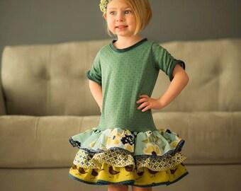 Dress Sewing Pattern, Girls Dress Pattern, Drop Waist Diva Pattern, Matilda Jane Pattern, Easy Girls Pattern, Knit Dress Pattern