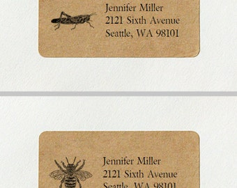 Custom Return Address Labels - Insects and Bugs Set, Insect Address Labels