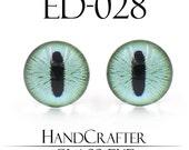 1 pairs - 12mm Handmade glass eyes glass Cabochons Human Eyes Monster Eyes ED-028 NO WASHER