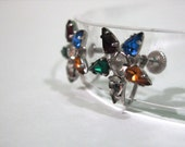 Glorious vintage Masonic rhinestone earrings
