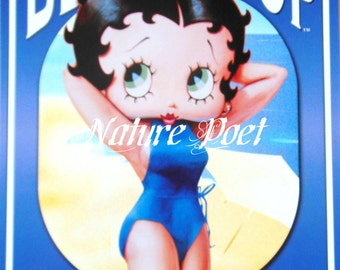 Bathing Suit Betty Boop Reproduction , Downloadable, Printable, Digital Art Image Instant Download