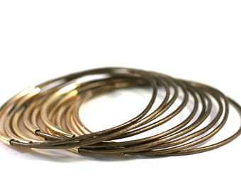 Bronze Bangles , Leather Bangles , Bangle Bracelets , Bracelet Set ,  Stacking Bracelets , Best Seller , Amy Fine Design