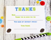 Kids Fill In the Blank Thank You Notes / Kids Thank You Notes / Childrens Sports Thank You Note Cards / Fill In The Blank Sports Design
