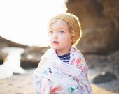Yellow Girl's Slouchy Hat - Girl Toddler Hat, Crochet Hats for Toddlers, Slouchy Beanie, Crochet Toddler Hat, 12 Months - 4T (Morgan)
