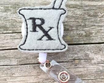 Pharmacist Badge Reel, Badge Reel, Pharmacy Tech Badge Reel, Retractable Badge Reel, ID Badge, Pharmacy Badge Reel, Medical Badge Reel