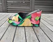 90s  Wedge Sandals Floral Donald J Pliner 6.5/7