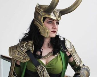 Loki Armor Set - 6 Piece Battle worn Armour set - Includes Faux Leather Fixings - Cosplay Costume - Custom