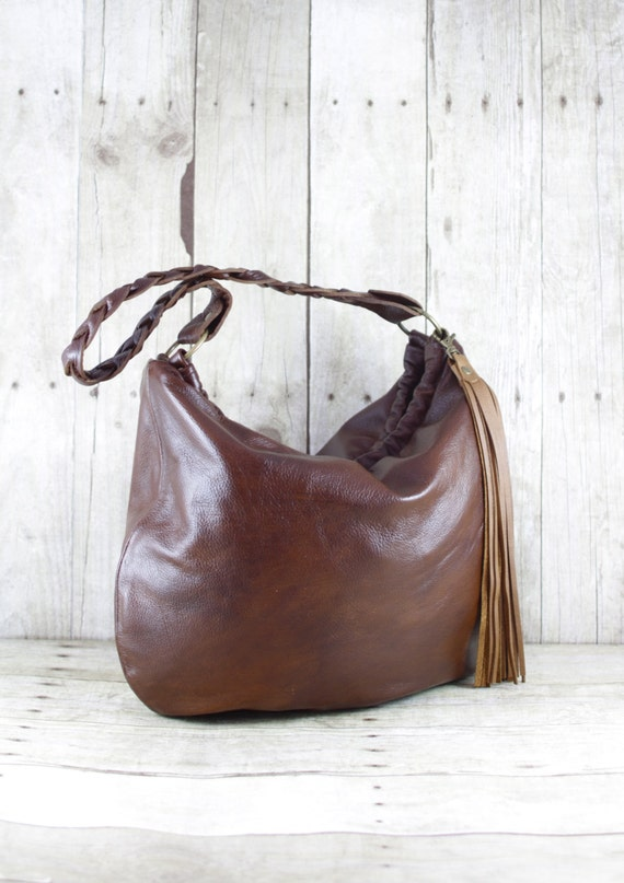 Leather Purse Leather Hobo Brown Leather Bag Slouchy