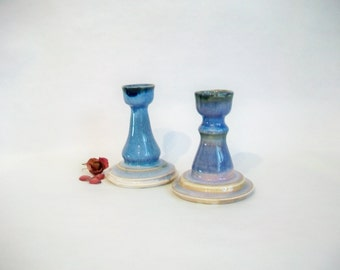 Candlestick Holders - Set of 2 - Handmade on the Potters Wheel -- Ready to Ship