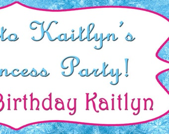 Personalized Frozen Elsa Birthday Banner