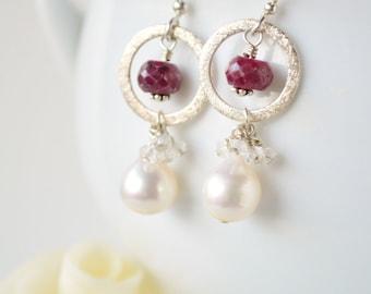 Visions of Rubies Earrings