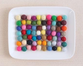 Felt Pom-Poms  // 1.5cm Felt Balls by Benzie // Felt Garland, Felt Balls, DIY Felt Garland Kit, Wool Felt Balls, Felted Balls, Felt Beads