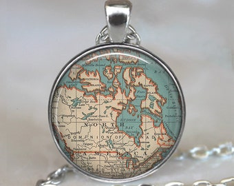 Canada map pendant, Canada jewelry resin pendant, Canada jewellery, Canada pendant, Canada map necklace, key chain keychain