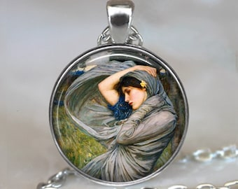 Gypsy Wind art pendant, Gypsy pendant, Waterhouse art pendant, Gypsy necklace, gypsy jewelry, keychain key chain key fob