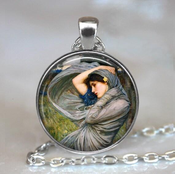 Gypsy Wind art pendant, Gypsy pendant, Waterhouse art pendant, Gypsy necklace, gypsy jewelry, keychain key chain key fob