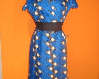 60's Original Hand Made Wiggle Day Dress
