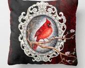 "Pillow ..PRINT art.. animal art - woodland art - fine art -living room - childrens room - nursery - babies - """" white rabbit"""""