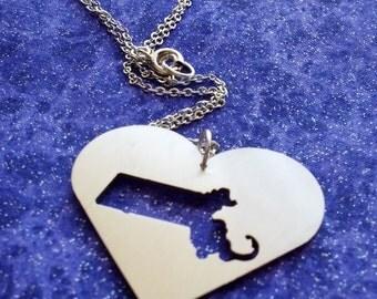 I Heart Massachusetts - Necklace or Pendant