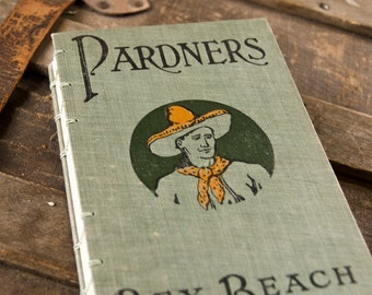 1905 PARDNERS Antique Lined Notebook Journal
