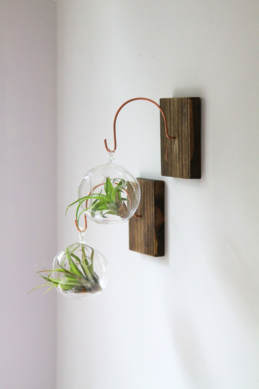 Wood and Copper Wall Mount Unique Wall Decor Handmade