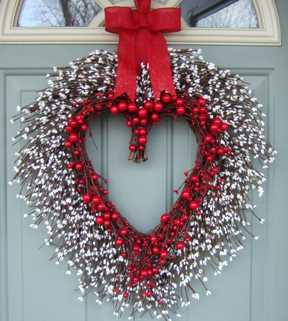 Valentine Wreath Valentine Door Wreath Heart By Countryprim