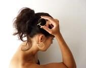 Ohrringe vergoldet Sterling Silber zeitgenössischen Schmuck abstrakt urban klassischen geometrischen Kreis Anweisung Fett - Articular Sammlung
