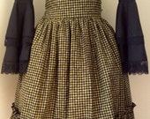 For twibrarian - Steampunk, Steamgoth Lolita  Skirt Green and Black Checkers
