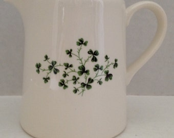 Carrigaline Pottery Cream Pitcher Made in Ireland Creamer Shamrocks