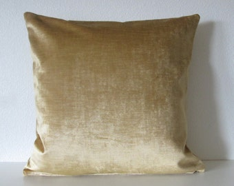 Savoy Topaz solid velvet luxe vintage gold high end decorative pillow cover