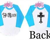 Easter Shirt, Easter Cross Shirt, Faith Shirt, Cross Shirt, He Is Risen Shirt, Easter Raglan, Christian Shirt, Religious Shirt, Cross, Faith