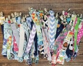Fabric Pacifier Clips, Pick any 4