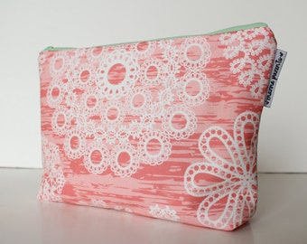 project bag -- coral & mint