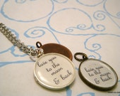 Love You to the Moon & Back Necklace - Large Round or Frame Style