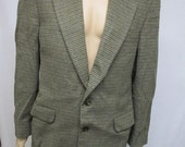 MENS Suit Jacket LARGE Vintage Sports Coat - Robert Stock -  Browns and Gray, Wool