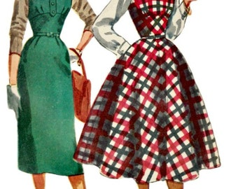 1950's Jumper Pattern - SIMPLICITY 4808 - 1954 Vintage Sewing Pattern - UNCUT, Factory-Folded - Bust 32