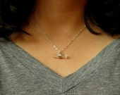 Quartz Crystal Pendant Necklace with Silver Chain