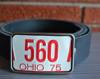 Ohio License Plate Belt Buckle