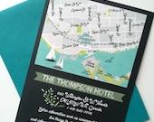Map Card : Custom Illustrated Wedding Invitations Add-on