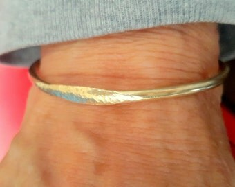 Gold Signet Cuff Bracelet, Trendy Bangle Bracelet, Stacking Bracelet, Open Bangle Bracelet, Handmade Bracelets, Open Cuff,
