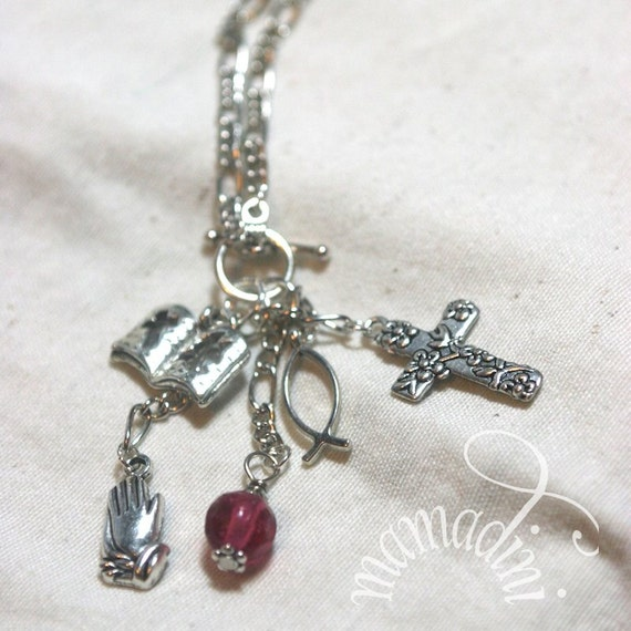 Charm Necklace - Christian - Prayer