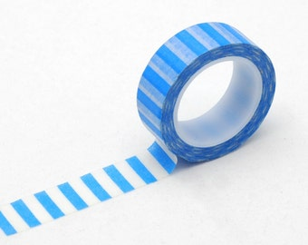 blue stripes washi tape - decorative washi tape - paper craft tape - Love My Tapes - LMT 862