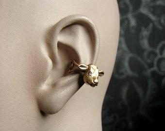 Cow head ear cuff