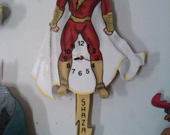 Shazam Super Hero pendulum wall clock