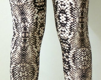 Printed leggings, snake leggings, active wear, women's leggings, women's Clothing Tights, back to school