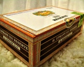 Cigar Box - empty box for crafting - 1844 Reserve - Demitasse - Empty Cigar Box