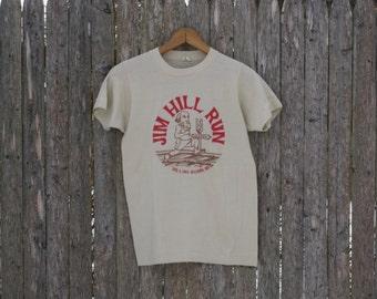 Vintage Jim Hill Run 10K Tshirt Mens Small 1984