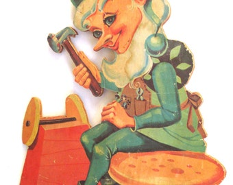 Wood Elf Yard Garden Decor -  Santa's Holiday Helper