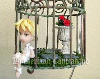 LAST CHANCE - Sweet Little Gabriel - Miniature Sculpture - OOAK Hanging Decor
