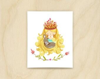 Forest Princess Print