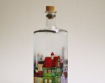 Hand Paintet  Bottle  Magic City